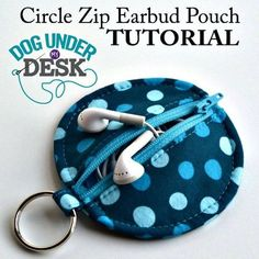15 DIY Earbud Holder Ideas to Easily Hold Your Earphones Earbud Holder Diy, Earphone Pouch, Easy Sewing Projects, Sewing Projects For Beginners, Sewing Tips, Diy Pouch Tutorial, Sewing Machine Tension, Pouch Pattern, Pencil Bags