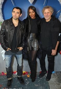 Chic: Standing beside creative director of Diesel Nicola Formichetti (L) and founder/presi...