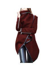 ClothingLoves Women's Solid Wool Blends Long Trench Coats by Clothingloves