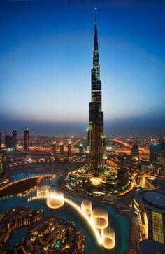 Burj Khalifa and Dubai Fountain, I've been there its beautiful