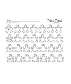 Gingerbread Tricky Teens Worksheet