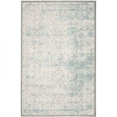 Tapijt Amala - kunstvezels - zandkleurig/turquoise - 200x279cm