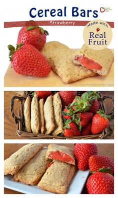 "Healthy Recipes : Illustration Description Homemade Strawberry Cereal Bars Recipe – Everyone loves our make at home version of cereal bars!superhealthyk… ""Life begins at the end of your comfort zone"" ! -Read More – Baby Food Recipes, Gourmet Recipes, Snack Recipes, Cereal Recipes, Paleo Cereal, Quinoa Cereal, Trix Cereal, Baby Cereal, Granola Cereal"