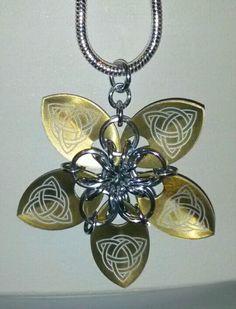 September 25th: golden aluminum flower pendant