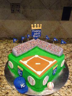 A custom Royals birthday cake!