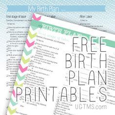 Free Birth Plan Printables - Mommy Survival | Parenting | Pinterest