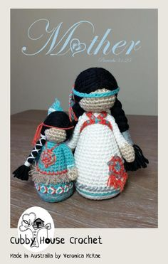 US Terminology She is clothed in strength and dignity, and she laughs without fear of the future proverbs Mothers are a range of amigurumi dolls that I am currently designing as a dedication to Mothers all over the wor Crochet Crafts, Yarn Crafts, Crochet Projects, Amigurumi Doll, Amigurumi Patterns, Crochet Patterns, Knitted Dolls, Crochet Dolls, Simple Embroidery