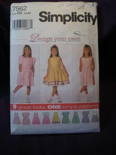 Two Pattern Bargain  Simplicity Girls' Patterns  by Clutterina, $2.25