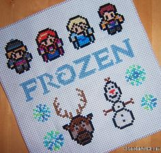Frozen Cross Stitch Pattern PDF INSTANT DOWNLOAD by XStitchMyHeart, £2.50