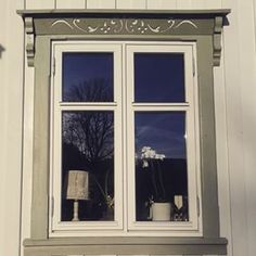 vindusinnramming | Search Instagram | Pinsta.me - Instagram Online Viewer House Trim, Swedish Style, Search Instagram, Scandinavian Home, Victorian Homes, Building Design, New Homes, Home And Garden, Diy Projects