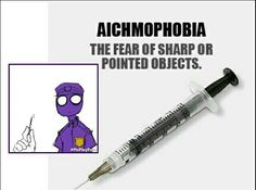 Vincent (Purple Guy) has Aichmophobia <<<< So do I. Ever since I was like, 4, I just was SO against shots. Like, even today I still just avoid shots and stuff much as I can, 'cause is just can get over my fear of NEEDLES FREAKING PIERCING MY BODY, OPENING UP WAYS FOR TERRIBLE DISEASES TO GET INTO MY BODY. THE FACT THAT IT HURTS AND THAT YOU BLEED DOESN'T REALLY HELP MUCH EITHER.