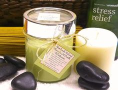 Massage Oil Candle Earth's Elements for HIM Natural