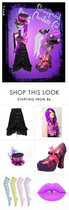 """""""Steampunk Cheshire Cat"""" by scarlet0alpha on Polyvore featuring Funtasma and Lime Crime"""
