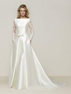 Vestido de novia en invierno