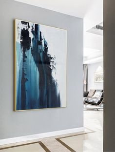 Large Dark Blue Abstract Painting,White Abstract Painting,Large Wall Decorative Art,Abstract painting of Giant Peak Landscape,Abstract Art Blue Abstract Painting, Abstract Canvas Art, Green Paintings, Art Paintings, Painting Art, Portrait Paintings, Abstract Portrait, Indian Paintings, Abstract Paintings
