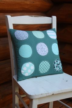 Pillow Cover Throw Pillow Teal Upcycled Home by SalvageSeamstress