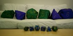 I SO have to make these! Geek DIY Dice Pillows