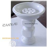 Nargilem Power Bowl Cube Professional Tabakkopf Cube Power Bowl von Nargilem mit einer Höhe von ca. 15cm. Der cube Tabakkopf für NP oder NPS-620 Shishas und für große Wasserpfeifen hat einen Durchmesser von ca. 8cm und einen hochsetzten Aufsatz mit 8 Löcher, für nur den Tabakrauch.