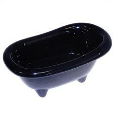 Mini Baños Cerámica - Negro   AW Regalos
