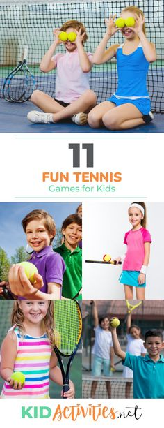 Searching for tennis games for kids? Look no further. Incorporate these 11 fun tennis games and drills into your child's tennis warm-ups. Tennis Lessons For Kids, Fun Games For Kids, Activities For Kids, Kids Camp, Tennis Camp, Tennis Party, Tennis Tips, Indoor Tennis, Tennis Match