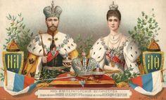 Tsaar Nicolaas II met zijn vrouw
