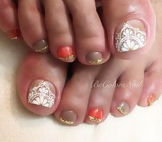 Luv Nails, Pretty Toe Nails, Gorgeous Nails, Pedicure Designs, Pedicure Nail Art, Toe Nail Designs, Toe Nail Color, Toe Nail Art, Belle Nails