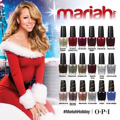 Mariah Carey holiday OPI nail polish colors!