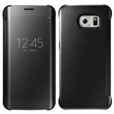 Samsung S7 Edge Case Flip Mirror Cover - Black - 4516661821575_32071071039623
