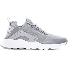 Nike Nike Air Huarache Run Ultra Sneakers ($89) ❤ liked on Polyvore featuring shoes, sneakers, nike trainers, white sneakers, gray sneakers, nike sneakers and nike