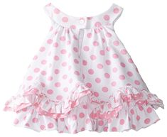 Amazon.com: Pippa & Julie Baby-Girls Newborn Pink and White Polka Dot Set, Pink, 6-9 Months: Clothing Cute Baby Girl, Baby Girl Newborn, Baby Girls, Toddler Girls, Little Girl Dresses, Girls Dresses, Baby Dress Patterns, Baby Kids Clothes, Baby Sewing