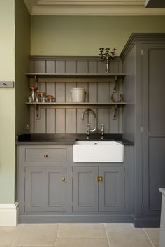 Dark top on grey cbds? I think lighter top works better?? Introducing the South Downs Boot Room by deVOL