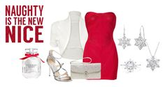 """""""Naughty  is the New Nice!"""" by lovely-naledi on Polyvore featuring WearAll, Hervé Léger, Jimmy Choo, Dorothy Perkins, Amanda Rose Collection, Victoria's Secret and Sixtrees"""