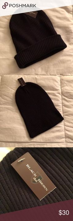Black knit slouch hat Black knit slouch hat, pictured rolled and unrolled. NWT, never worn. No trades! Black Brown 1826 Accessories Hats