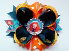 Princess Merida from brave Inspired Hair Bow by crystalnruby