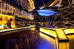 """Completed in 2012 in Dubai, United Arab Emirates. Images by Jeff Dow. """"Alegra is a restaurant, lounge and bar in the heart of Dubai within the shadow of the Burj Khalifa, the world's tallest building. The space is. Bar Lounge, Restaurant Lounge, Restaurant Design, Pho Restaurant, Hookah Lounge, Lounge Ideas, Cafe Bar, Commercial Design, Commercial Interiors"""