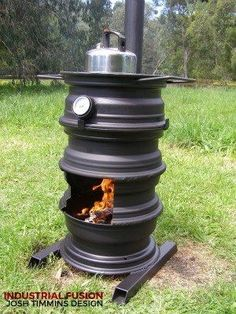 The rim of fire pizza oven - Wood Projects Metal Projects, Welding Projects, Outdoor Projects, Diy Projects, Project Ideas, Diy Wood Stove, Multi Fuel Stove, Fire Pizza, Pizza Pizza