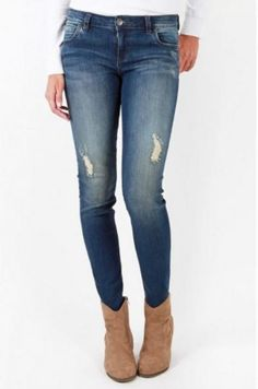 Mia Toothpick Skinny Jeans by Kut from the Kloth - Laugh Wash