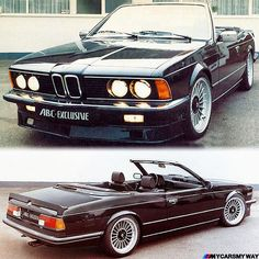Back in 1980's ABC Exclusive from Bonn in Germany offered a convertible conversion for the E24 6 series. Here is one based on an Alpina