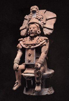 maya jaina ruler on a throne
