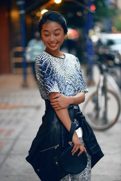 Margaret Isabel Marant Zhang w Girls Fashion Clothes, Girl Fashion, Girl Outfits, Fashion Looks, Shine By Three, Camille Over The Rainbow, Girl Trends, Leandra Medine, Trendy Girl