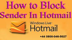 You can utilize Hotmail platform, the web mail service created by Microsoft to deal with every one of your email messages. In case if you use Hotmail a great deal, you've presumably gotten what's coming to you of spam email messages. Several email messages originate from similar contacts, so you should block them to stop …
