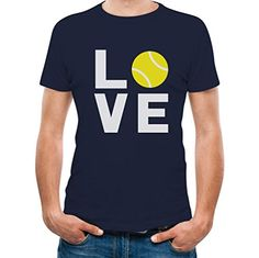 TeeStars - Love Tennis - Gift Idea for Tennis Fans Cool T-Shirt Small Navy >>> Click on the image for additional details.