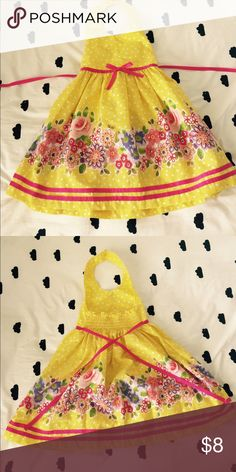 Yellow Floral Dress Halter Yellow Dress. Very good used condition. Smoke/Pet Free Home Blueberi Boulevard Dresses Casual