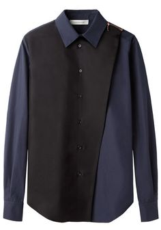 Zipper Button Up Top by Cédric Charlier - white crossover blouse, black white polka dot shirt blouses, women's black silk blouse *ad Shirts & Tops, Shirt Blouses, Satin Blouses, Designer Kurtis, Fashion Casual, Womens Fashion, Gothic Fashion, Fashion Fashion, Chemise Fashion