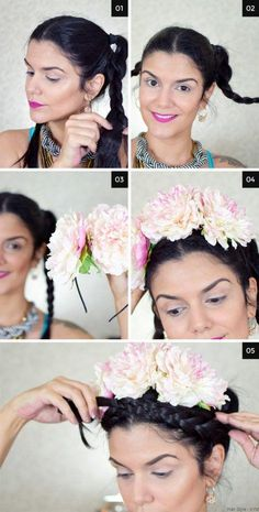 Tutorial Frida Kahlo Mexican Costume, Mexican Party, Halloween Makeup Looks, Halloween Costumes For Kids, Costumes Kids, Freida Kahlo Costume, Frida Kahlo Makeup, Fridah Kahlo, Mexican Hairstyles