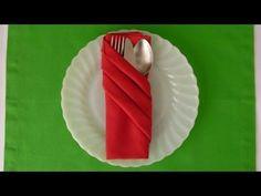 Cómo doblar una Servilleta de papel para una fiesta* FACIL Y RAPIDO!!!!!! - Madelin's Cakes - YouTube
