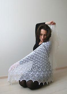 Firebird Shawl is triangular shawl.