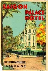 Saigon Palace Hotel, Indochina. ca. late 1920s. Artist: Daniel C. Sweeney (1880-1958).