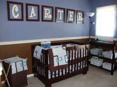 "Carters Nursery, This room was designed by me.  I wanted to do something simple that he would be able to grow into, and not to ""baby"" like. ..."