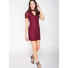 Miss Selfridge PETITE Lace Choker Dress (32 CAD) ❤ liked on Polyvore  featuring dresses 8d2d88c5a